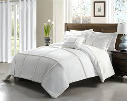 white comforter with black trim large size of navy blue and silver bedding brown white sets