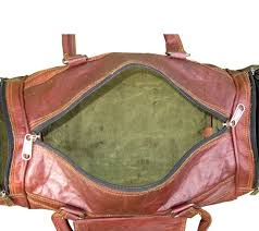 vintage leather duffel travel gym bag