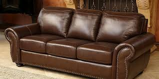 abbyson reese top grain leather sofa review