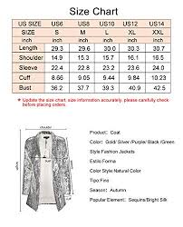 Haoduoyi Size Chart Haoduoyi Womens Sparkly Sequins Pocket Side Open Front