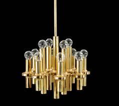 mid century modern sciolari 12 lights brass chandelier pendant light stilnovo gio ponti era