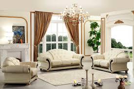 details about versace cleopatra cream italian top grain leather beige living room sofa set