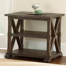 Southfield Weathered Brown End Table Sf300e The Home Depot