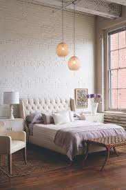 White Exposed Brick Wall Bedroom Multi Tonal Bedroon With Exposed Brick Modern Platform