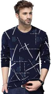 TRIPR <b>Printed Men Round</b> Neck Dark Blue T-Shirt - Buy TRIPR ...