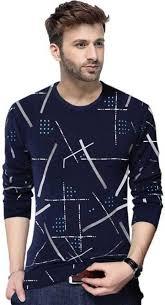 TRIPR <b>Printed Men Round Neck</b> Dark Blue T-Shirt - Buy TRIPR ...