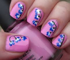 Blue Nail Art Designs The Home Design : Blue Nail Designs To ...