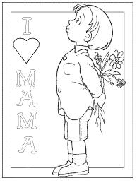 Moederdag Kleurplaten I Love Mama