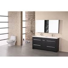 50 double sink vanity. perfecta dark espresso 63 inch double sink vanity set 50 i