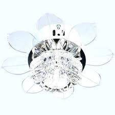 ceiling fan crystal light white chandelier low profile