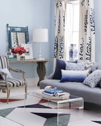 Red And Blue Living Room Blue Rooms Martha Stewart