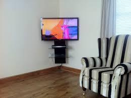 corner tv wall mount shelf homes by