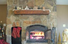 rustic wood classic style fireplace mantel designs ideas equipped with wooden material usage on stone material