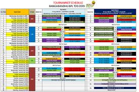 Bpl 2020 Schedule Time Table Bangladesh Premier League