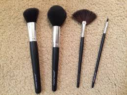 coastal scents brushes. l-r: large angled blush brush, tapered powder small fan brush \u0026 coastal scents brushes