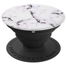 Design Popsocket Cheap Amazon Com White Marble Design Popsocket Pop Socket Marble