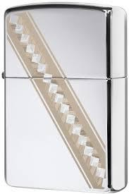 49168 <b>Зажигалка Zippo Ribbon Diamonds</b>, Polish Chrome