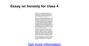 essay on honesty for class google docs