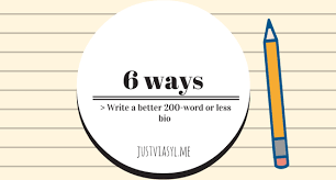 six ways to attempt a word or less bio about yourself sylvia six ways to attempt a 200 word or less bio about yourself sylvia jiang pulse linkedin