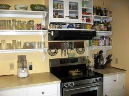 Rustic Kitchen Shelving Contemporary Open Kitchen Shelving