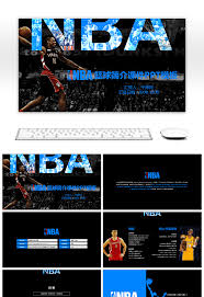 Awesome Nba Basketball Introduction Courseware Ppt Template For Free ...