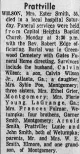 Obituary for Ester WILSON (Aged 55) - Newspapers.com