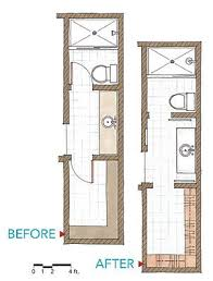 Elegant Interior And Furniture Layouts Pictures  Small Bathroom Small Narrow Bathroom Floor Plans