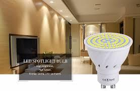 10pcs for indoor kitchen spot light gu10 2835smd 220v 240v led spotlight lighting illas bulb 48