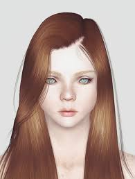 Parted to one side hairstyle Alesso`s Eve retextured by Momo - Sims 3 Hairs