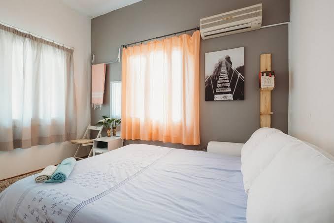 An Airbnb rental room