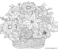 Coloring Pages Flowers Free Printable Flowers Coloring Pages Flower