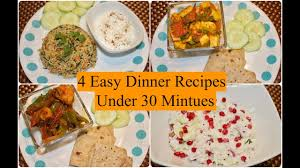 Light Tiffin Recipe 4 Easy Indian Dinner Recipes Under 30 Minutes 4 Quick Dinner Ideas Simple Living Wise Thinking