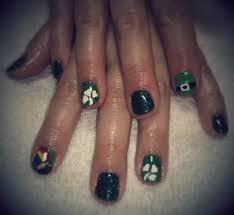 St. Patrick's Day nail art using Shellac on natural nails - Yelp