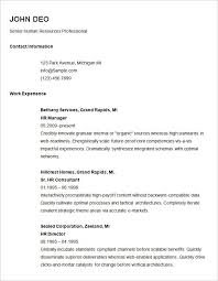 Easy Resumes Templates Wonderful Simple Resume Template Hyperrevcipo