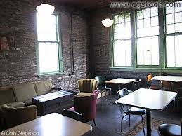 coffee house furniture. Coffee House Furniture. Vintage Shop Vibe Brick Walls Subdued Colorful Accents Old Wood Furniture