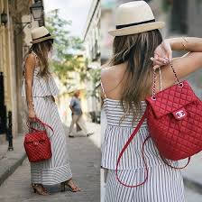 chanel backpack. red chanel backpack