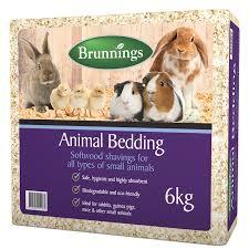 brunnings 6kg softwood shavings animal