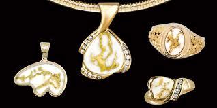 alaskan gold quartz diamond necklace