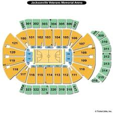 Vystar Veterans Arena Seating Chart Jacksonville Memorial Arena Concert Seating Chart