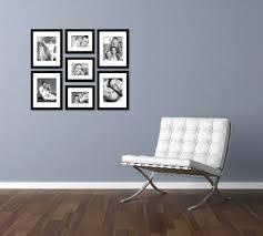 smart inspiration wall frame minimalist craig frames 7 piece black gallery set with glass white design