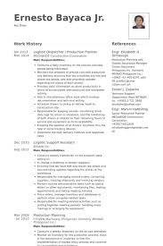 Production Planner Resume Samples Visualcv Resume Samples Database