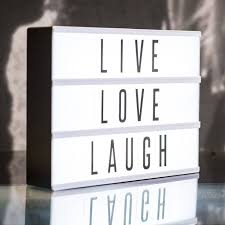 cinematic lightbox love this this gem comes with changeable letters choices of black