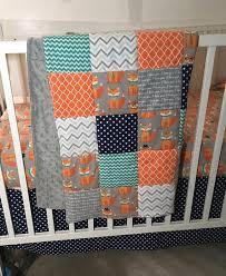 woodland crib quilt fox crib bedding