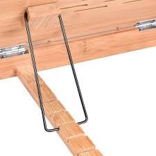ergonomic portable bamboo laptop desk table folding breakfast bed serving tray w drawer lap desks office