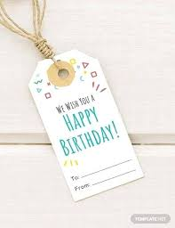 Free Birthday Gift Tag Template Download Tags In Word