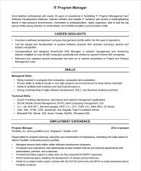 Gallery Of Sample Project Manager Resume 7 Documents In Pdf Word