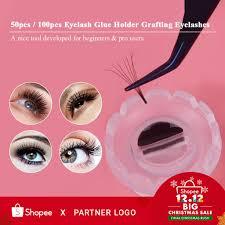 100pc eyelash grafting blossom cup one second flowering sun glue