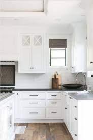 Black Hardware Kitchen Cabinet Ideas The Inspired Room White Kitchen Design Kitchen Cabinets Decor Kitchen Door Handles