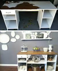 repurposed office furniture.  Repurposed Pin Dingy Desk To Beautiful Buffet To Repurposed Office Furniture SheKnows