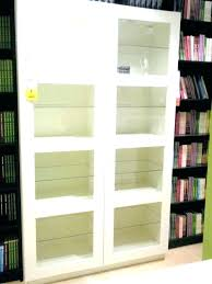 bookcase with glass doors ikea contemporary shelves door wooden cabinet for 19
